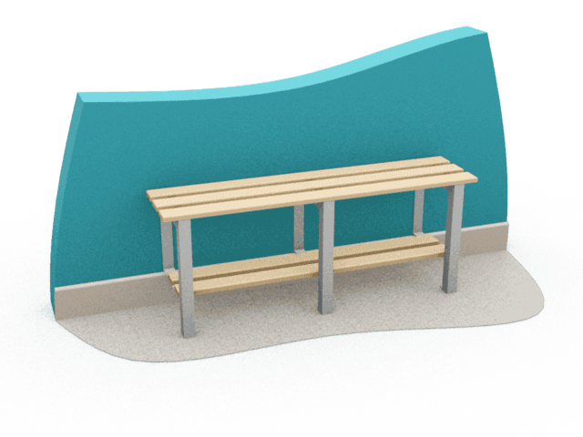 Wall Seat cloakroom bench