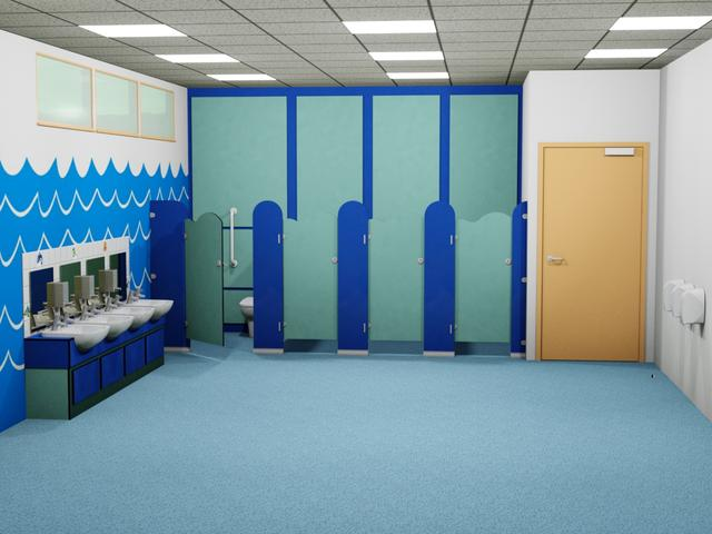 Cloud Washroom toilet cubicles, Vanity unis and Service duct panels